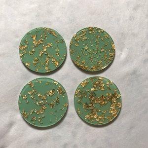 Gold Leaf Coasters